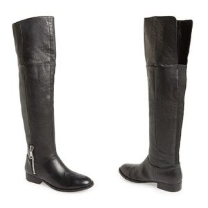 CHINESE LAUNDRY Zipper Over the Knee Leather Boots